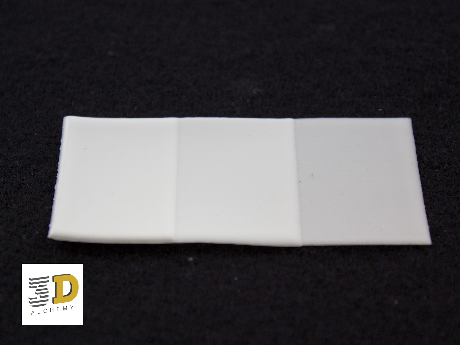 Stepped thickness silicone sheet