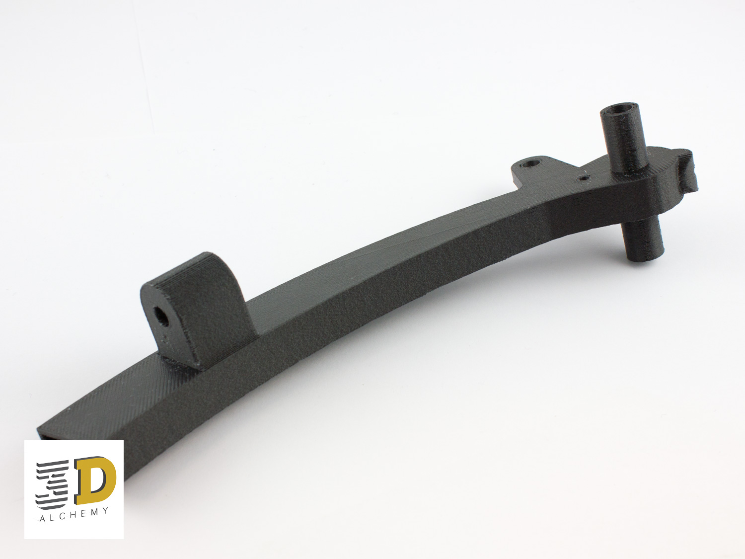 Arm assembly 3d printed in CF
