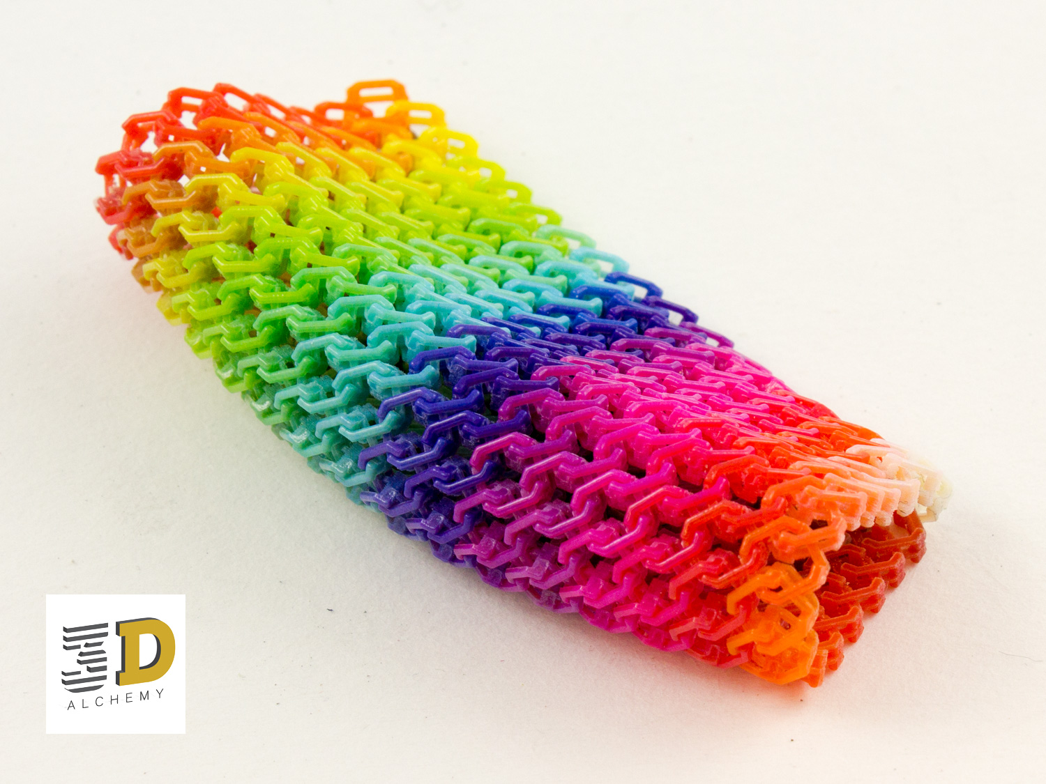 Chain mail, full spectrum colour 3d print.