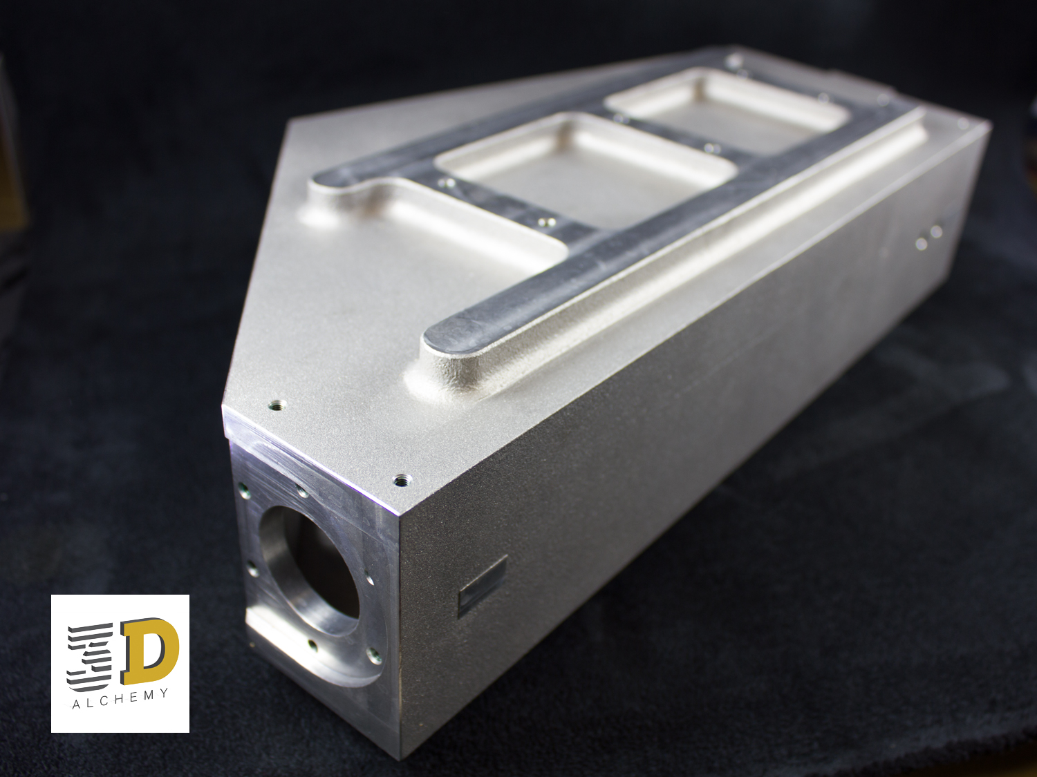 3D Printing in Aluminium with post build machining.