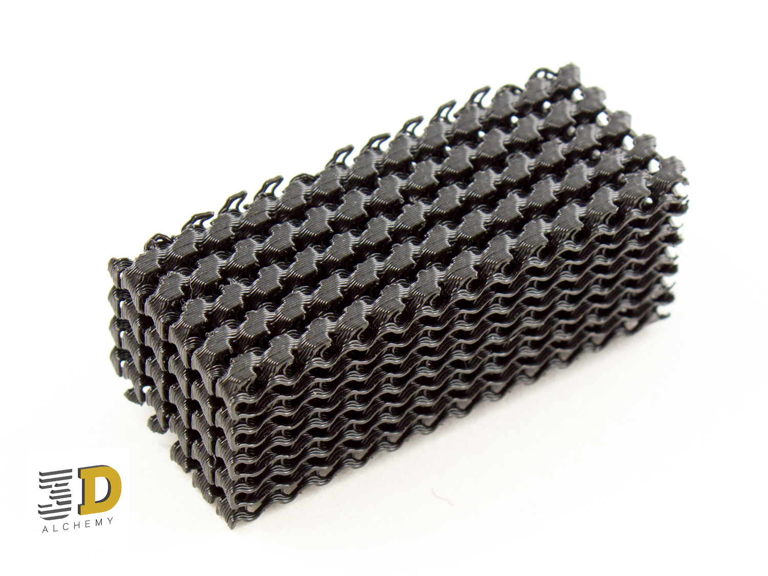 FDM Printed Rubber - TPU mesh structure.